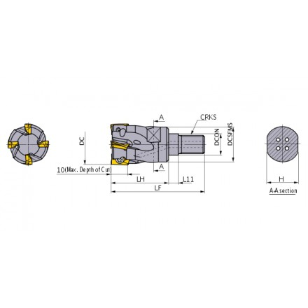 APX3000 hörnfräs screw-in