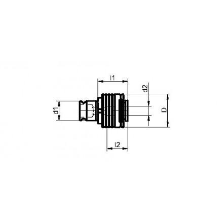 Kelch snabbväxelinsats med säkerhetskoppling för snabbväxelchuck, standard