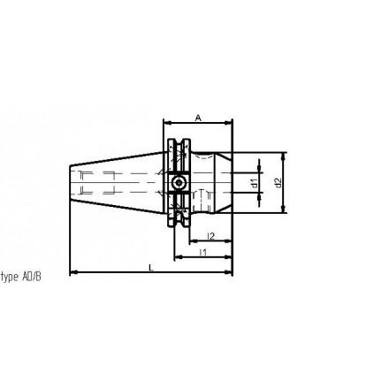 Kelch weldon-chuck standard ISO-DIN