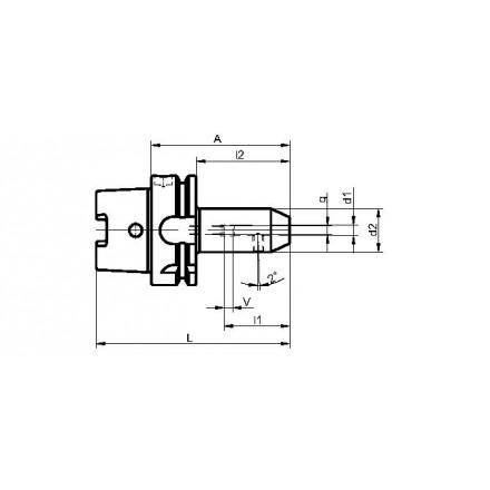 Kelch weldon-chuck standard HSK-A