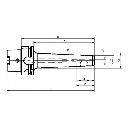 Kelch weldon-chuck slank HSK-A