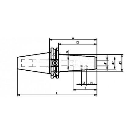 Kelch weldon-chuck slank ISO-DIN