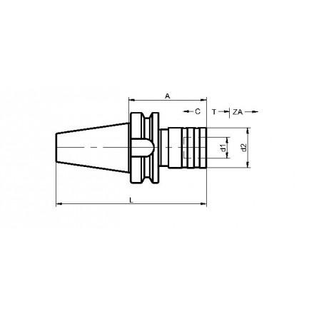 Kelch gängtappshållare standard BT-MAS