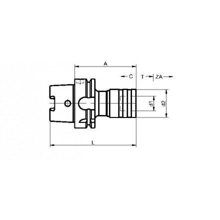 Kelch gängtappshållare standard HSK-A