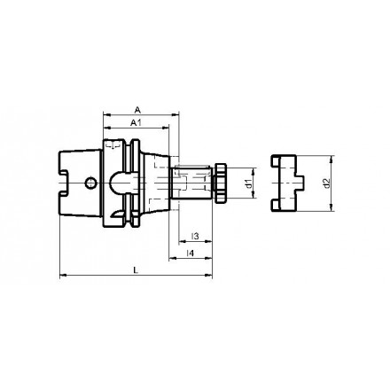 Kelch fräsdorn standard HSK-A