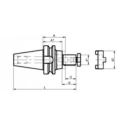 Kelch kombifräsdorn standard BT-MAS