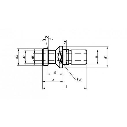 Kelch dragtapp DIN 69872 A standard