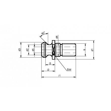 Kelch dragtapp ISO 7388 typ B standard