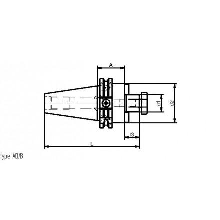 Kelch fräsdorn stor anläggningsplan standard ISO-DIN