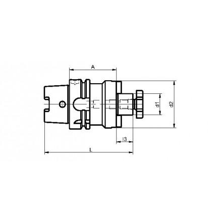 Kelch fräsdorn stor anläggningsplan standard HSK-A