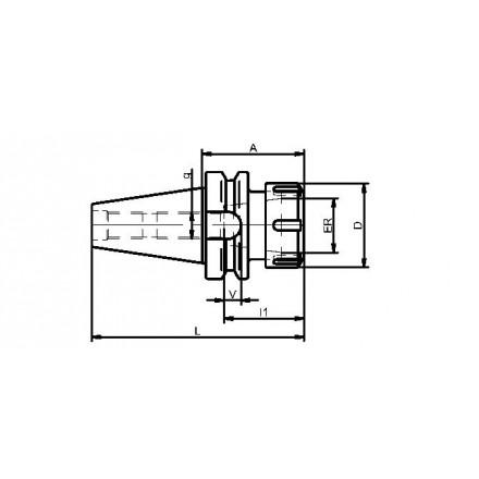 Kelch hylschuck ER 25-40 BT-MAS