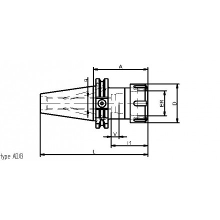 Kelch hylschuck ER 25-40 standard ISO-DIN