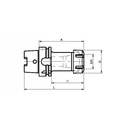 Kelch hylschuck ER 25-40 standard HSK-A