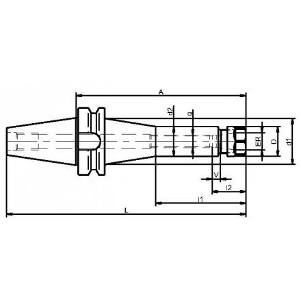 Kelch hylschuck ER 11-16 BT-MAS