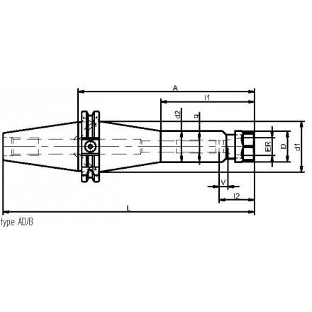 Kelch hylschuck ER 11-16 standard ISO-DIN