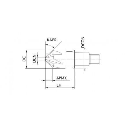 iMX-CH6V 6-skärig fasfräs