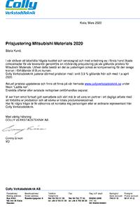 Prisbrev 2020