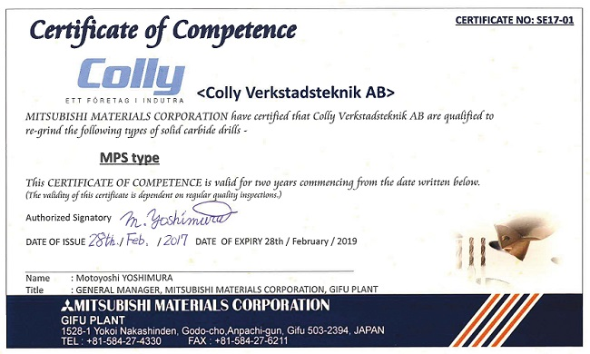 Certifikat MPS
